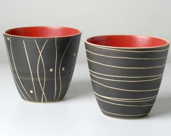 2 hand-pottered espresso cups, suitable for tea lights gifts for you