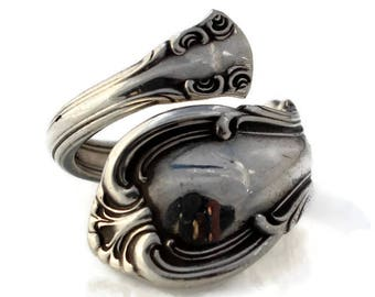Spoon Ring Sterling Silver Joan of Arc Size 3-9