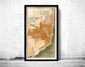 Old Map of Miami Florida 1918