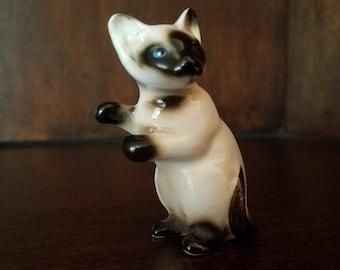 Siamese Cat Porcelain Figurine