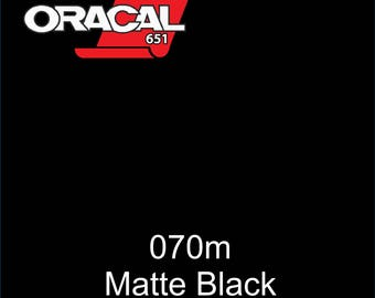 "12"" - Choose Size ORACAL 651 - Matte Black - Permanent Adhesive Vinyl for Decals, Tumblers, Car Graphics."