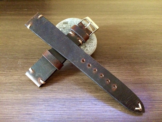 leather Watch strap, 19mm watch band, Leather Watch band, Brown, 19mm strap, strap replacement, Watch strap, 20mm Watch band, FREE SHIPPING