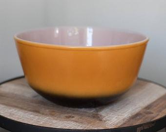 Vintage Fire King Orange & Black Ombre Bowl