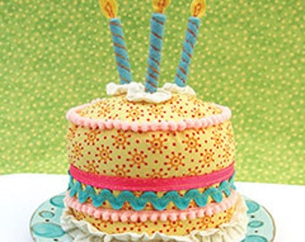 PDF Happy Birthday Cake Pin Cushion Sewing Pattern