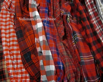 Vintage Women's Flannel Shirts For Wedding Getting Ready Boyfriend Style Oversized Comfort Hipster Grunge Streetwear Look Sizes S M L XL