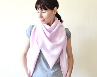pink scarf linen scarf shawl wrap lightweight scarf wedding shawl boho gift mom pink shawl pink gift outdoors gift spring scarf sister gift