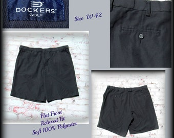 golf shorts, 80's men's shorts, golf wear, men's black shorts,men's dress shorts,  Size 42,    # 29