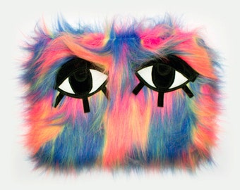 JOANNA PYBUS Sherbert Monster Clutch Bag