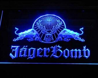 Neon Sign LED Bar Decor Man Cave Jagermeifter Jager Bomb