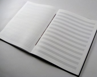 music lined paper