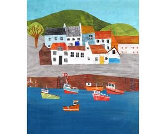 Scottish fishing village print