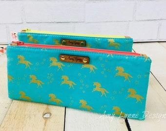 Pencil Pouch, Pencil Bag, Zippered Pencil Pouch, Makeup Bag, Makeup Pouch