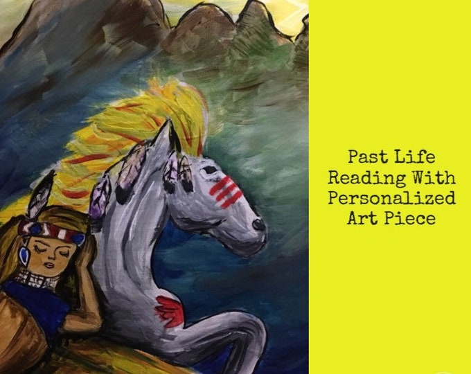 Past Life Reading with Personalized Painting or charcoal drawing of a scene from the reading. 40 min MP3 or phone
