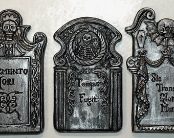 Tombstone Magnets, set of 3
