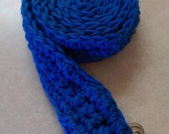 100% Cotton Handmade Blue Crochet Belt