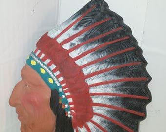 Indian Chief Wall Plaque