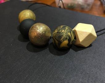 Handmade Clay Beaded Necklace