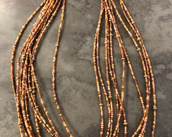 Earthy 10 strand beaded necklace