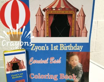 Set of 12 Custom Coloring Book sets with matching crayons