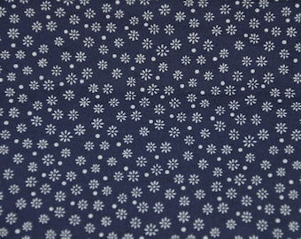 Vintage Cotton Fabric - Blue and White Fabric, 1950's - Retro - Sewing Supplies