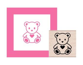 Teddy Bear Rubber Stamp
