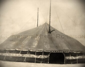 Carnival Circus Tent. Big Top. Original Digital Art Photograph. Giclee Print. Wall Art. Wall Decor. THE LAST CIRCUS by Mikel Robinson