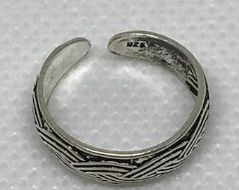 Vintage Sterling Silver 925 Toe Ring
