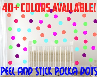 Peel and Stick Polka Dot Wall Decals For Kids Rooms, Nursery Decor, Bedrooms, Wall Sticker Decor Peel and Stick Circles Circle Stickers