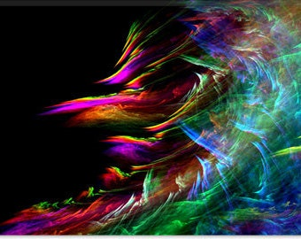"Fire Waive Canvas Giclee Art Print (124) 40""x26"""
