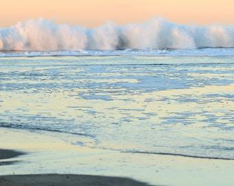 Pastel Beach Sunrise - Ocean Photography Photo Print - Size 8x10, 5x7, or 4x6