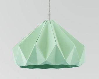 origami light Chestnut Mint Green