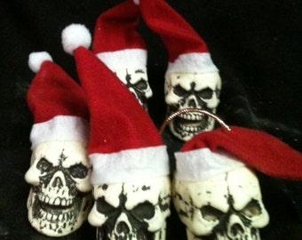 Santa skull ornament!