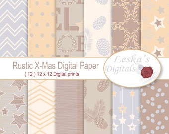 Rustic Christmas Digital Papers Noel Digital Papers Christmas Digital Papers Woods scrapbook background noel background rustic digital