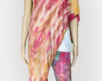 Pink and Gold Infinity Scarf-Tie Dye Scarf-Nursing Cover - Fall Colors