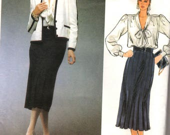 Vogue 1483 Adele Simpson Jacket Skirt and Blouse Sewing Pattern New Uncut