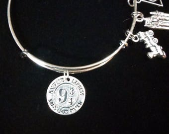 Harry Potter Inspired Platform 9 3/4 Train Station Expandable Bracelet