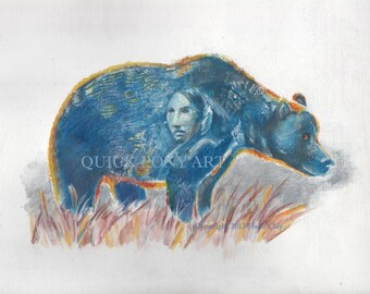 Shadow in the Bear - print of my original