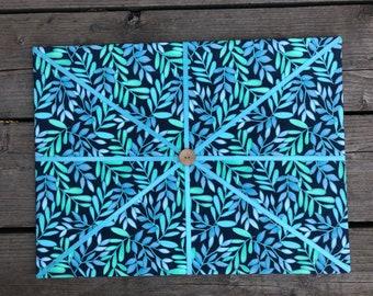 Blue Floral Fabric Board w/ Blue Ribbon (CP)