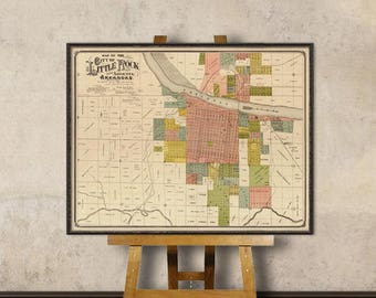 Little Rock map - Old map of Little Rock print - Fine reproduction