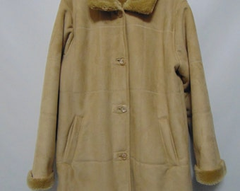Vintage Faux Suede/Fur Coat
