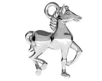 Sterling Silver Horse Charm 14mm