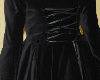 Black Velvet Romantic Lolita Victorian Long Sleeves Bustle Jacket