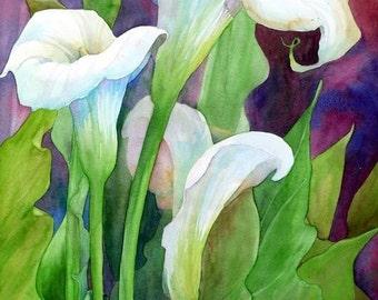 Calla Lilies 1 - Cross stitch pattern in PDF format