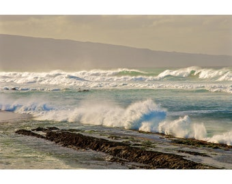 Rolling Waves in Maui Hawaii Fine Art Photography Print Ocean Beach