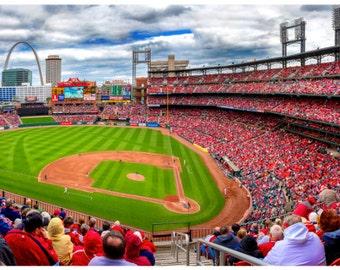 St. Louis Cardinals Busch Stadium Panorama, Large Wall Art Print, Fine Art Photography