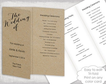 tri fold wedding program paper koni polycode co