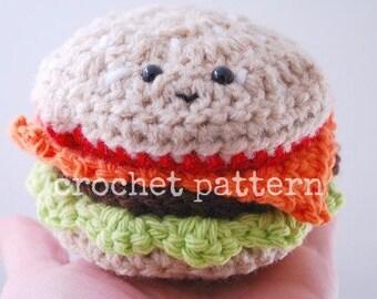 CROCHET PATTERN-amigurumi crochet cheeseburger pattern
