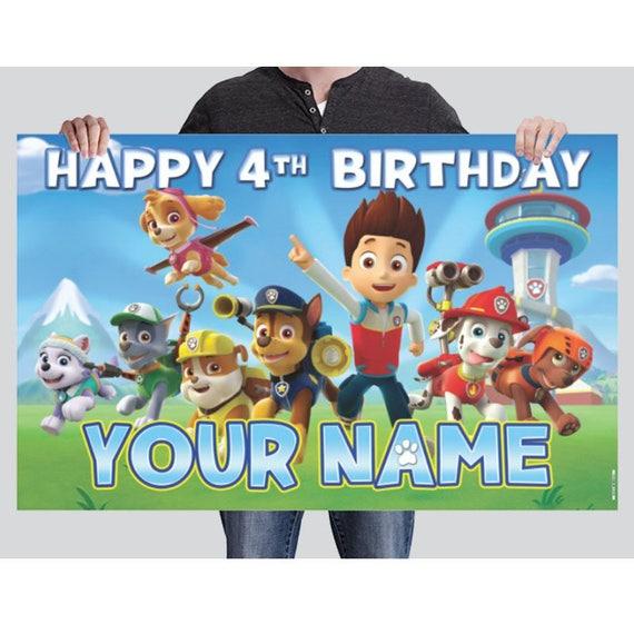 BANNER Paw Patrol Birthday Banner