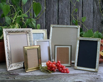 Set of Seven Vintage Photo Frames From 1950s, 1960s, and 1970s