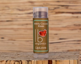 Organic Lip Balm // Minty Cocoa Kisses
